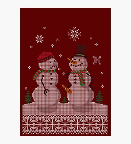 UGLY HOLIDAY HAPPY SNOWMAN CARROT THIEF Photographic Print