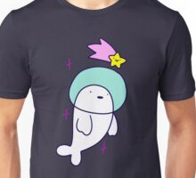 Astronaut Harp Seal and Shooting Star Unisex T-Shirt