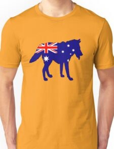 Australian Flag - Wolf Unisex T-Shirt