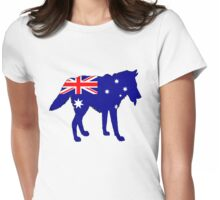 Australian Flag - Wolf Womens Fitted T-Shirt