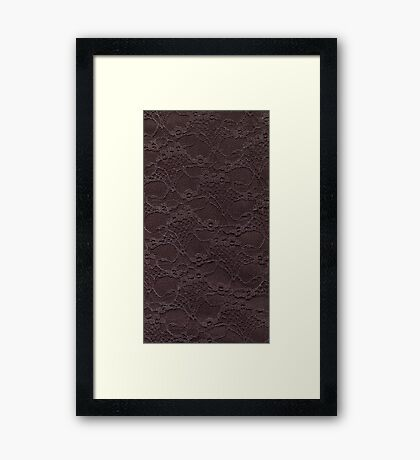 Chocolate lace. Framed Print