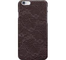 Chocolate lace. iPhone Case/Skin