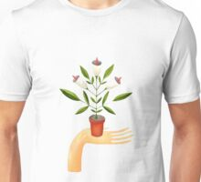Potted plant in hand Unisex T-Shirt