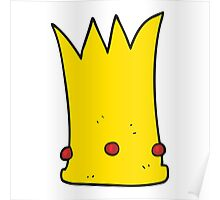cartoon tall crown Poster