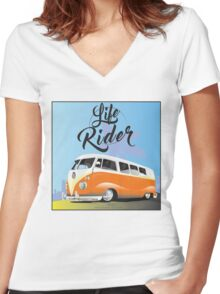 Camper time is now! Women's Fitted V-Neck T-Shirt