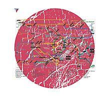 Tokyo Metro Map Japanese City Urban Style T-Shirt by Cyrca Originals Photographic Print
