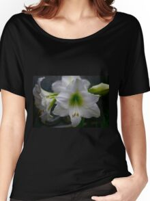 White Amaryllis Women's Relaxed Fit T-Shirt