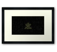 No mystical energy field controls my destiny - Han Solo Framed Print