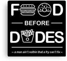 Chris Crocker - Food Before Dudes Tee Canvas Print