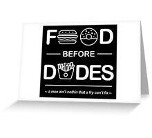 Chris Crocker - Food Before Dudes Tee Greeting Card