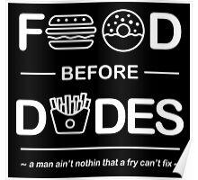 Chris Crocker - Food Before Dudes Tee Poster
