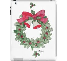 Holly Wreath with Bells iPad Case/Skin