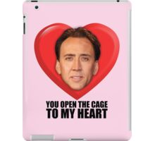 Nicolas Cage - You Open the Cage to My Heart iPad Case/Skin