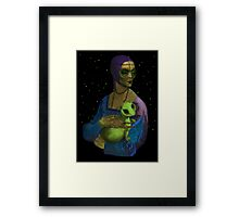 Lady Alien with her Pet Framed Print