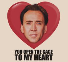 Nicolas Cage - You Open the Cage to My Heart T-Shirt