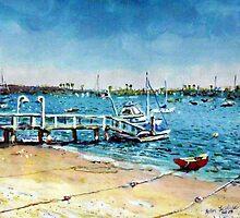 Newport Harbor  Balboa Island by ArtbyLeclerc