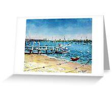 Newport Harbor  Balboa Island Greeting Card