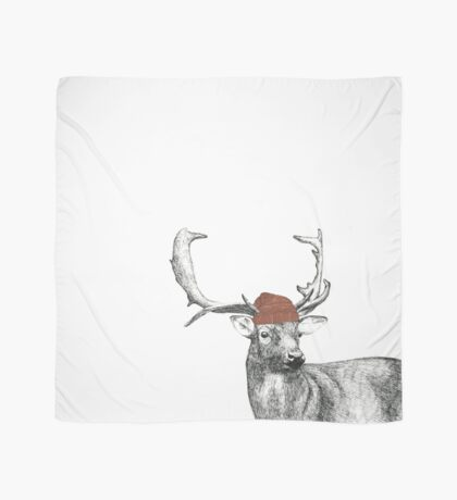 Deer With Winter Hat Scarf