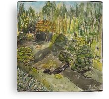 Japanese Tea Garden creek Canvas Print