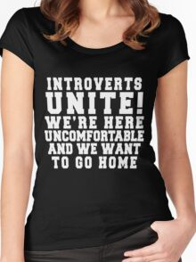 Introverts Unite! Women's Fitted Scoop T-Shirt