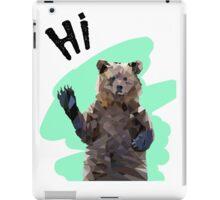 Quirky Geometric Hi Bear iPad Case/Skin