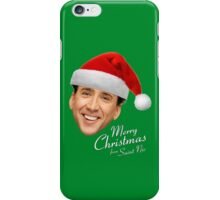 Merry Christmas from St Nic-olas Cage iPhone Case/Skin