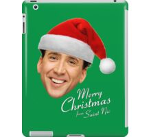 Merry Christmas from St Nic-olas Cage iPad Case/Skin