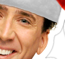 Merry Christmas from St Nic-olas Cage Sticker