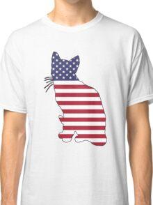 American Flag – Cat Classic T-Shirt