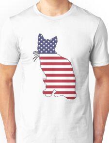 American Flag – Cat Unisex T-Shirt