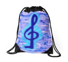 Music is the key by Nikki Ellina Drawstring Bag
