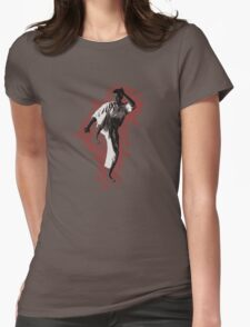Karate Stance  Womens Fitted T-Shirt