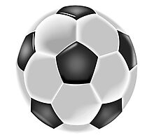 Soccer, Soccer Ball, Ball, Football, Black and white Photographic Print
