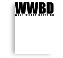 WWBD Canvas Print