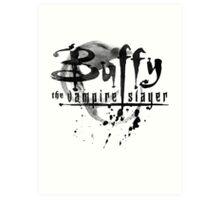 Buffy logo Art Print