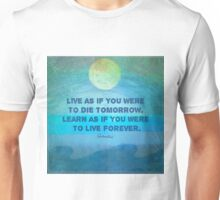 Life Inspirational Learn quote Gandhi Unisex T-Shirt