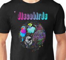 Disco Birds Neon Artwork T-Shirt by Cyrca Originals Unisex T-Shirt