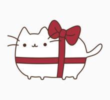 Cute Kawaii Present Cat Kids Tee