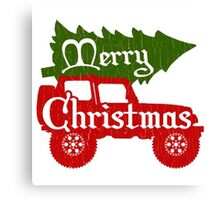 Christmas - Jeep Ugly Christmas Canvas Print