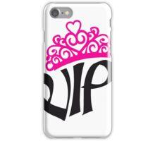 prinzessin königin princess queen krone hübsch vip schön schrift logo design cool very important person  iPhone Case/Skin