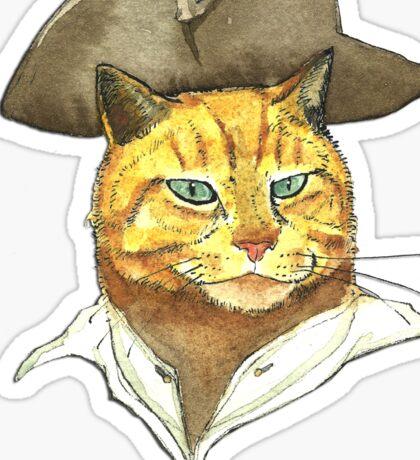 Pirate Cat Face Sticker