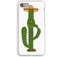 Rare Pepe - Cactus, Mexican Sombrero Edition iPhone Case/Skin