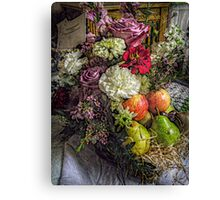 Fruit and Flower Basket for the Fall Canvas Print