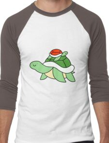 Big Turtle and Little Red Turtle Men's Baseball ¾ T-Shirt