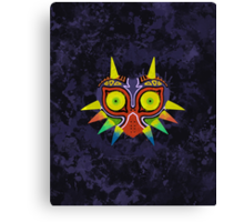 Majora's Mask Splatter Canvas Print