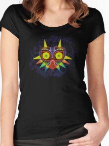 Majora's Mask Splatter Women's Fitted Scoop T-Shirt