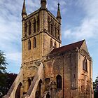 West end of Pershore Abbey Pershore England 198405140043  by Fred Mitchell