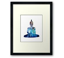 Watercolor Style Buddha Framed Print