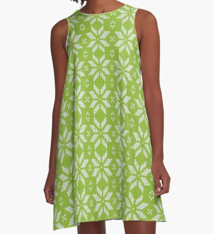 Knitted snowflake A-Line Dress