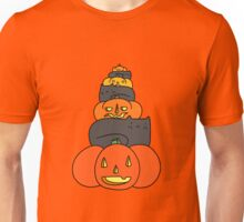 Black Cat and Pumpkin Stack Unisex T-Shirt